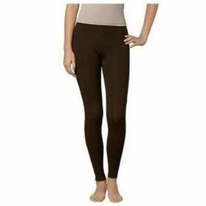 HUE Womens Cotton Leggings Espresso Brown XS NWT